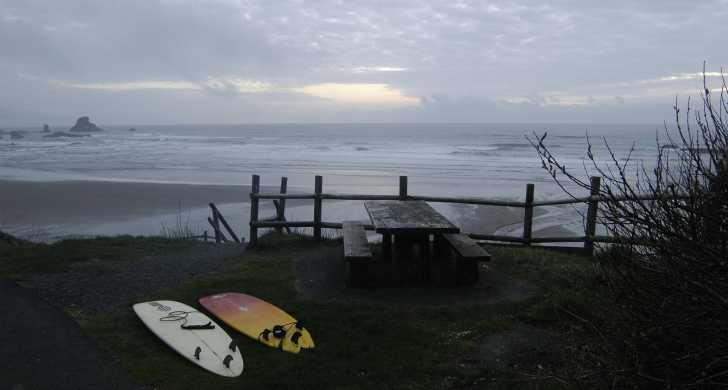 1209000696Ecola State Park Surfboards at Sunset-1.JPG