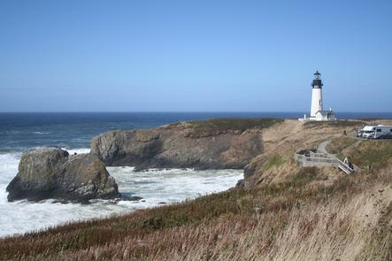 Light House At Yaquina Head