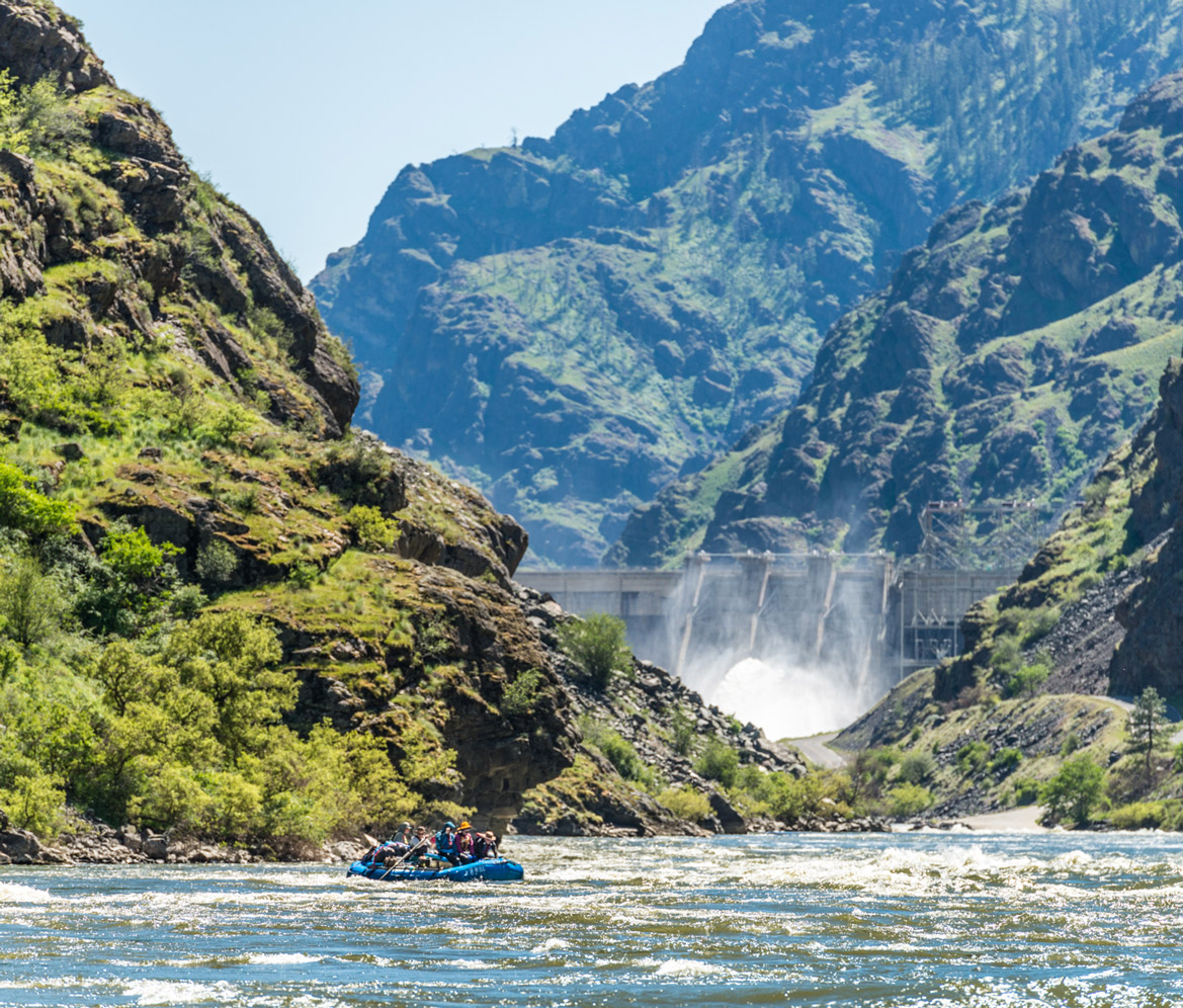 Hells Canyon Dam in Spring