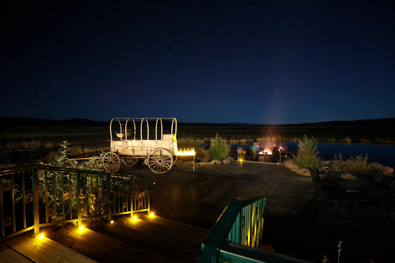 Enjoy an evening overlooking the pond