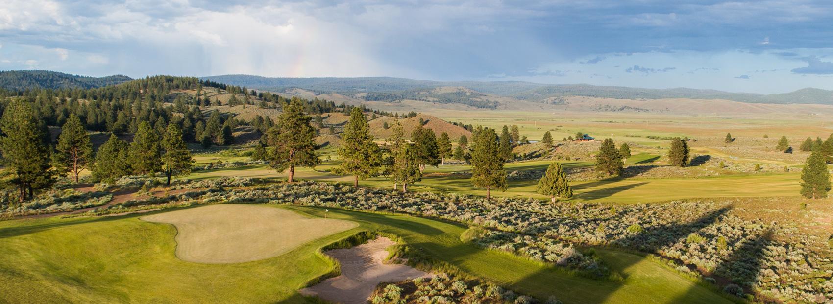Enjoy golf with sweeping views at Silvies Valley Ranch
