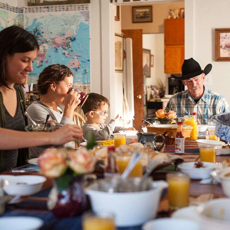 The day starts with a homemade family-style ranch breakfast