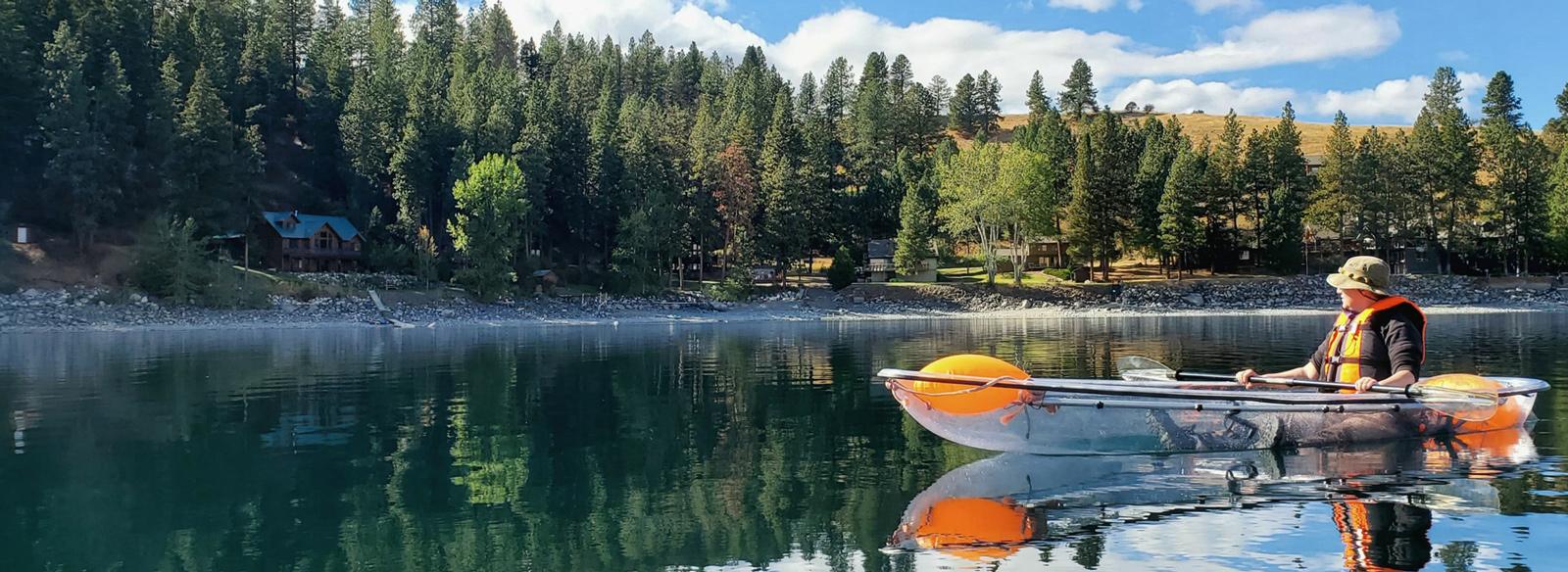 Experience Wallowa Lake on a clearly amazing kayak with JO Paddle
