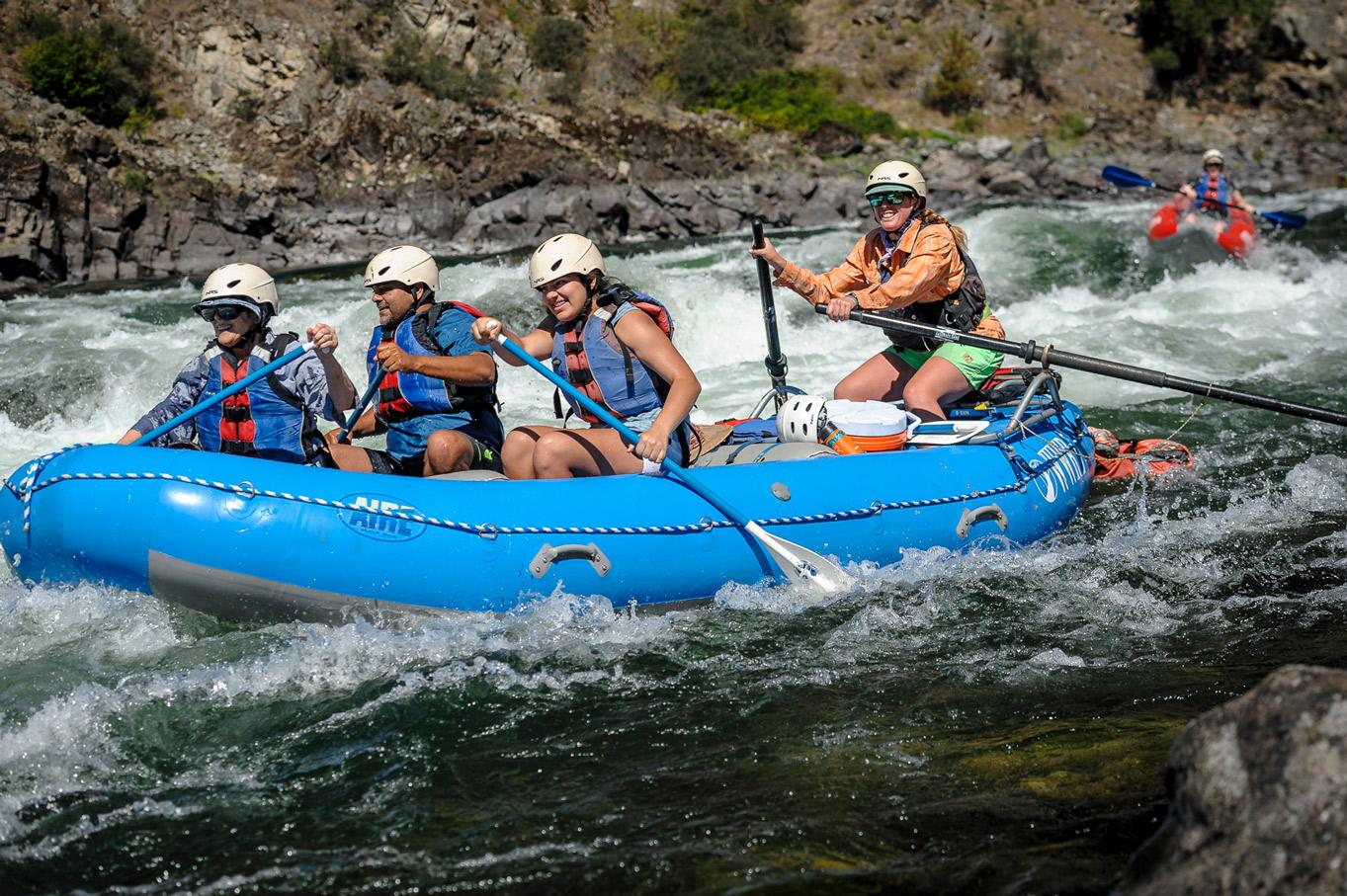 Salmon Paddle Raft