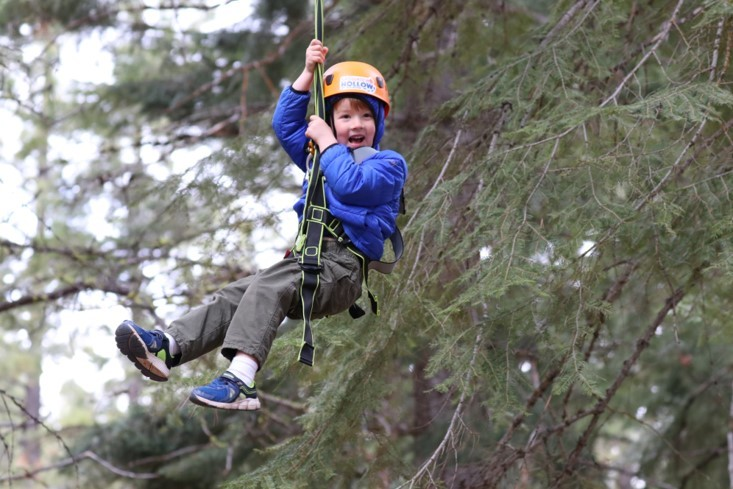 Having fun on the Sasquatch Hollow Zipline Adventure