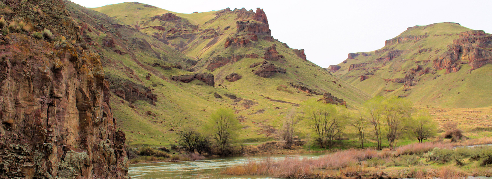 On the bank of the Owyhee River