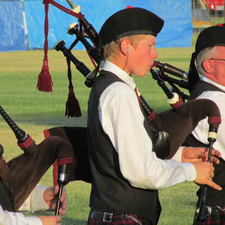 Enjoy the music of bagpipes at Athena's Caledonian Games