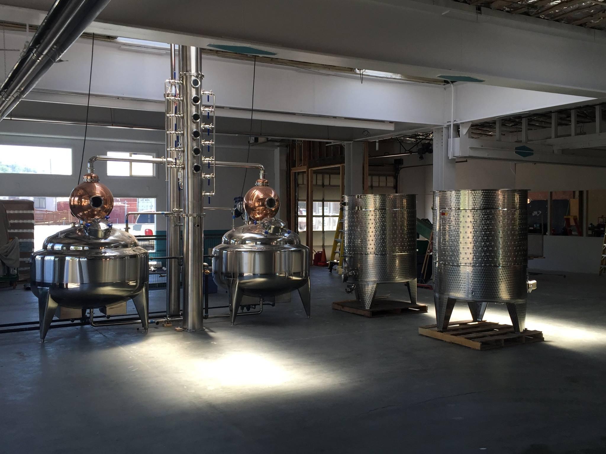 Stills at Oregon Grain Growers Brand Distillery