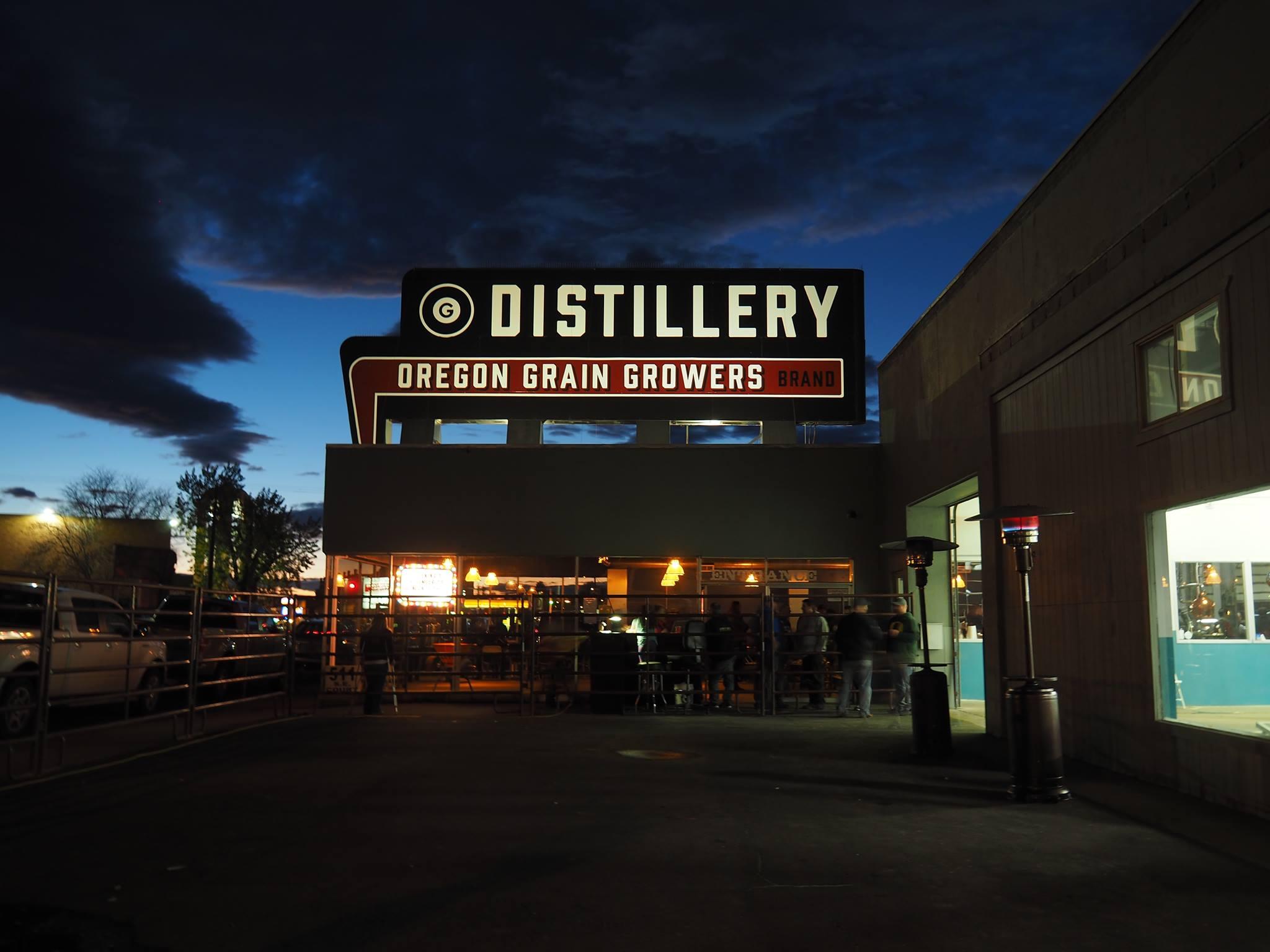 Oregon Grain Growers Brand Distillery Exterior