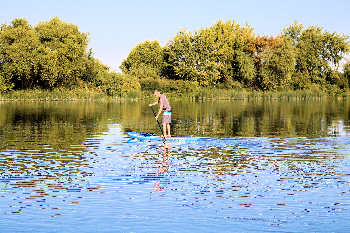 Paddle Boarding at Ontario State Recreation Site