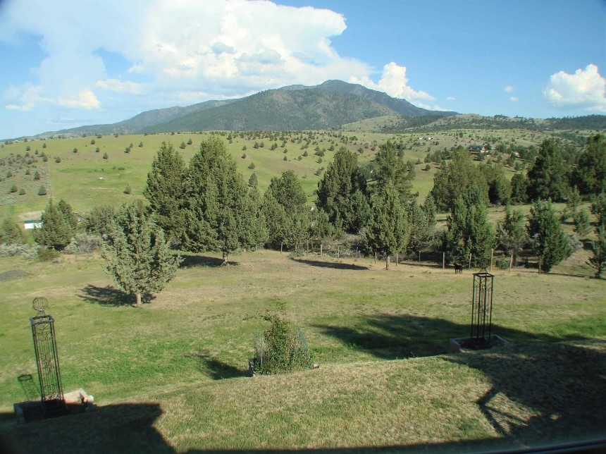 Mountain view from the house