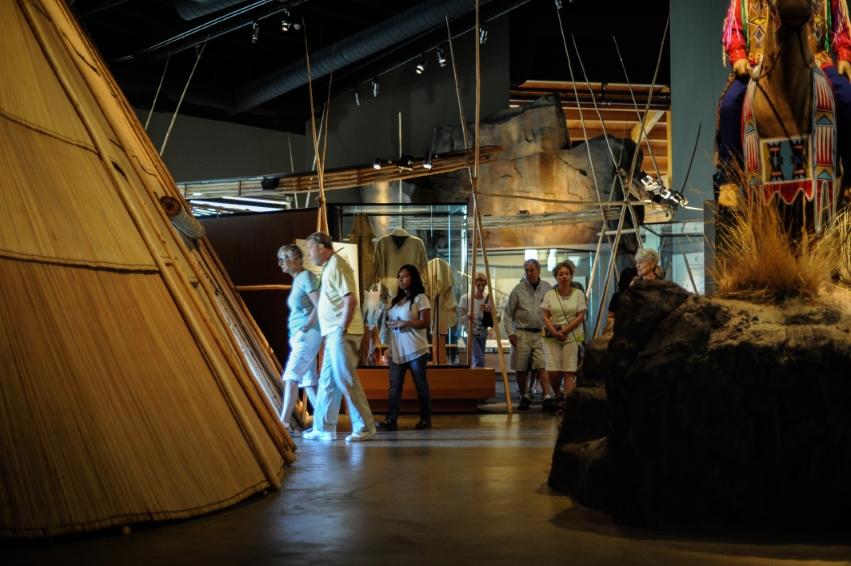 Visitors in exhibits