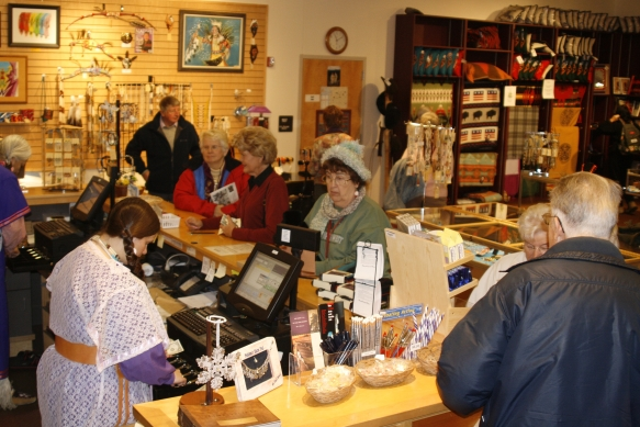 Clients in Museum Store