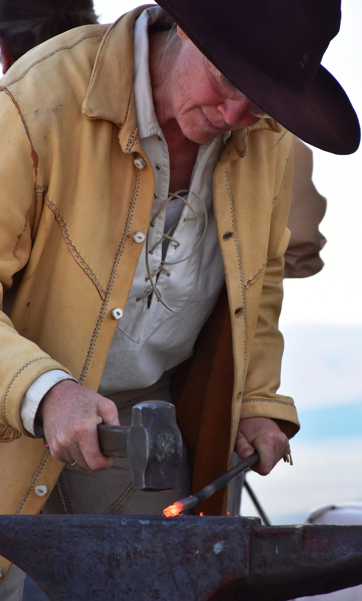 Blacksmith at National Oregon Trail Interpretive Center