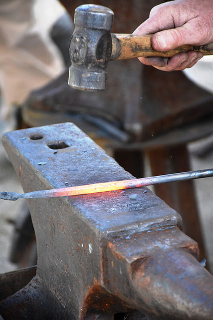 Blacksmithing at National Oregon Trail Interpretive Center