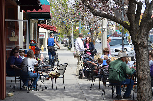 Lone Pine Café outdoor dining in historic Baker City