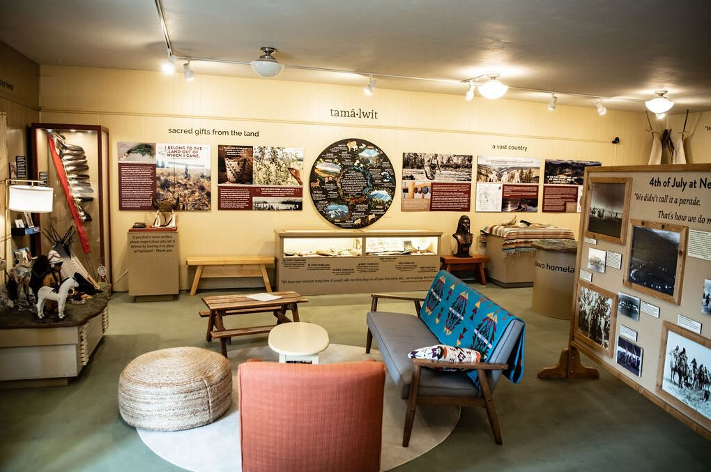 Exhibits at the Nez Pearce Wallowa Visitor Center