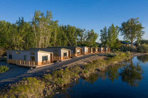 west facing row of River Lodge + Cabin