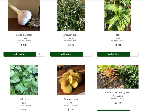 Fresh produce changes with the seasons