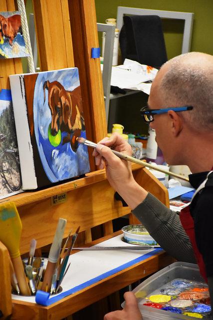 Painters Studio on the Baker Artist Studio Tour