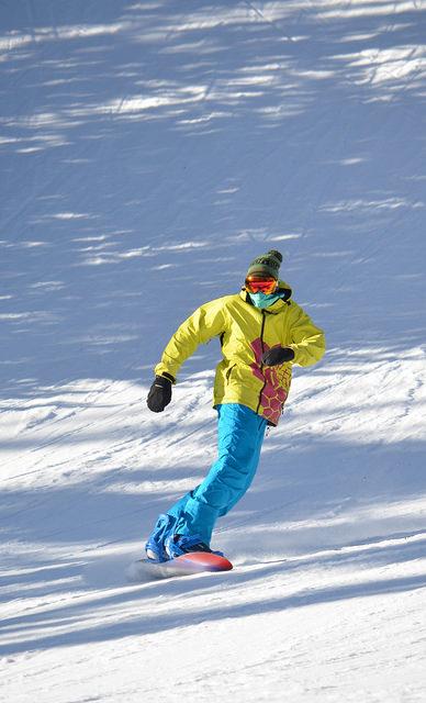 Snowboarding at Anthony Lakes