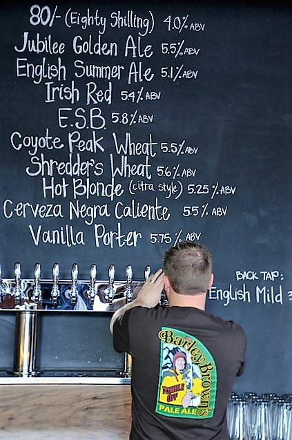 28 hand crafted beers on tap