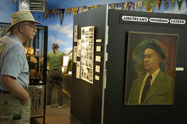 Wally Byam, Airstream display at the Baker Heritage Museum