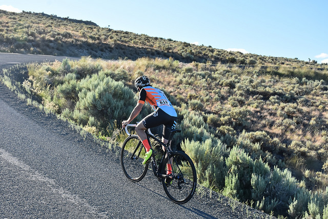 Grueling uphill time trial