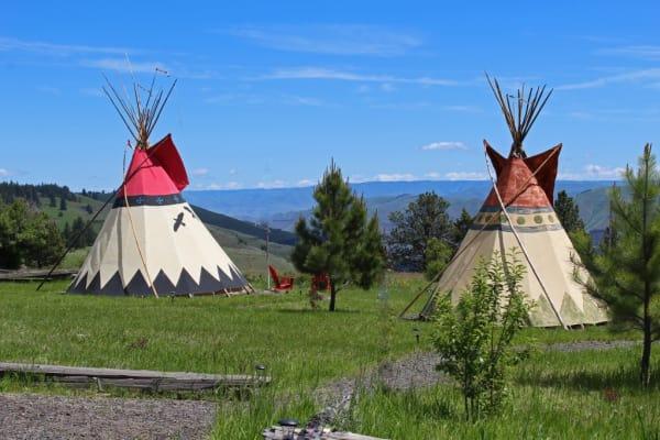 Rimrock Inn Tipi Camping