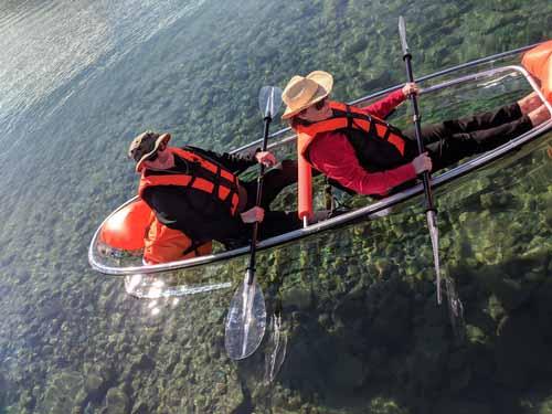 JoPaddle Glass Bottom Kayak Rentals